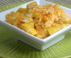 Easy Cheesy Squash Casserole | AllFreeCasseroleRecipes.com -I would probably thinnly slice the squash