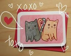 Kitties in Love - anniversary card valentine card friend cat valentine card her gift for her i love you card wife card cat lover valentine Friend Valentine Card, Cat Valentine, Love Valentines, Love Anniversary, Anniversary Cards, Secret Notes, Good Notes, Note Cards, Adorable Drawings