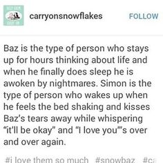 Simon has nightmares too (bc they both have PTSD) I can just imagine them cuddling each other and just feeling more safe altogether