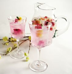 floral ice cubes for iced tea