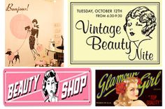Vintage Signs- love em all over my house!!!