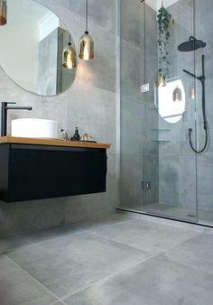 runder badspiegel badezimmer grau graue badezimmerfliesen runder badspiegel Source by The post runde Grey Bathroom Tiles, Grey Bathrooms, Modern Bathroom, Small Bathroom, Grey Tiles, Bathroom Cabinets, Kitchen Tiles, Bathroom Black, Bathroom Mirrors
