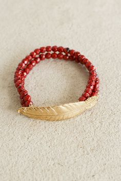 Birds of a feather flock together and luckily for you, this red beaded bracelet…