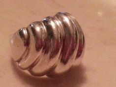 Vintage Sterling Silver Ring Abstract Fluid by MyYiayiaHadThat, $20.00