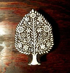 Tree of Life Hand Carved Wood Stamp Indian by PrintBlockStamps, $34.95