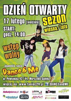 DZIEŃ OTWARTY Sezonu Wiosna/Lato w Akademii Tańca DANCE Warszawie - Pod patronatem Gdzieco.pl