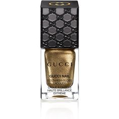 Gucci Iconic Gold, Bold High-Gloss Lacquer (77 BRL) ❤ liked on Polyvore featuring beauty products, nail care, nail polish, beauty, makeup, nails, fillers, gold, gucci beauty and glossy nail polish