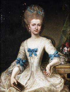 Follower of Carl Gustaf Pilo (1711-1793): Portrait of a lady. 18th century.