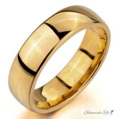 Ehering / Partner Ring Edelstahl gold   im Etui...