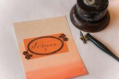 'Forever' #calligraphy #obliquepen #forever #orange #ombre #inkwell #obliquepencalligraphy