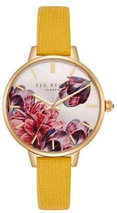 1241322b9cbfda Ted Baker London Kate Leather Strap Watch