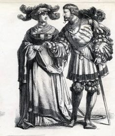 Renaissance Men`s dress, Renaissance Women`s dress.