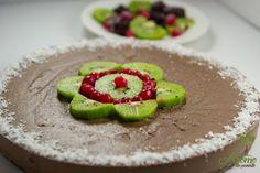 Tort raw vegan cu menta si ciocolata