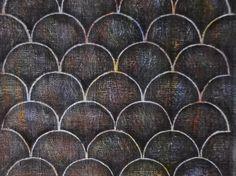 アクリル画。キャンバス3号(22×27.5×1.8㎝)。想像上の動物、黒い竜がいるならこんな感じのウロコをもっているのかも。 ハンドメイド、手作り、手仕事品の通販・販売・購入ならCreema。