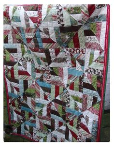 Christmas strip quilt