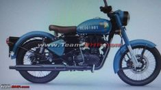 Royal Enfield Classic 350 ABS Launch Soon MotorBeam blue color bullet 350 - Blue Things Enfield Bike, Enfield Motorcycle, Motorcycle Style, Royal Enfield Wallpapers, Royal Enfield Accessories, Royal Enfield Modified, Enfield Classic, Royal Enfield Bullet, Launching Soon
