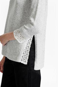 Lola Lace Knit Jumper – В'язання – knit Grunge Look, Style Grunge, 90s Grunge, Soft Grunge, Grunge Outfits, Lace Knitting Stitches, Lace Knitting Patterns, Lace Sweater, Lace Scarf