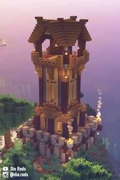 Minecraft Building Blueprints, Minecraft House Plans, Easy Minecraft Houses, Minecraft House Designs, Minecraft Decorations, Minecraft Creations, Minecraft Crafts, End Portal Minecraft, Minecraft Statues