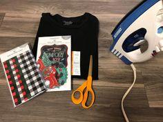 DIY Appliqué T-Shirt - The Shabby Tree Iron On Fabric, Iron On Applique, Diy Shirt, Christmas Shirts, Fabric Decor, Shabby, Diy Projects, Crafty, Fashion Outfits