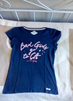 Kup mój przedmiot na #vintedpl http://www.vinted.pl/damska-odziez/koszulki-z-krotkim-rekawem-t-shirty/12251855-bluzka-t-shirt-granatowy-z-napisem