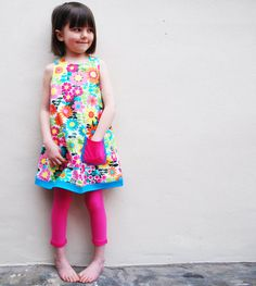 Girls Summer floral 60's dress by wildthingsdresses on Etsy, $54.00