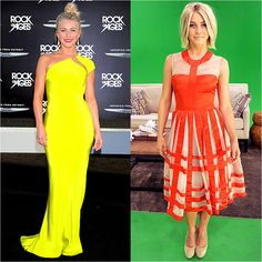Julianne Hough -- Bold Colors on Red Carpet