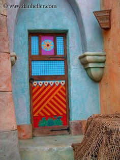colorful-door.jpg america, colorful, doors, florida, images, north america, orlando, united states, universal, vertical