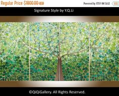 Art Painting 72 large Abstract acrylic wall art by QiQiGallery