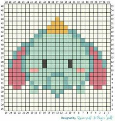 Over in the Two Hearts Crochet CALs group someone has asked about tsum tsum graphs. Being a massive Disney fan and avid tsum collector . Perler Bead Templates, Diy Perler Beads, Perler Bead Art, Hama Beads Patterns, Beading Patterns, Crochet Pixel, Image Pixel Art, Modele Pixel Art, Perler Bead Disney
