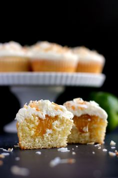 This cupcake recipe is spiked with beer, has a key lime filling, and is topped with a coconut butter cream frosting. These are sure to be a hit at any event.