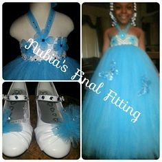 Nubia's Final Fitting of Crystal Blue w/shoes to match