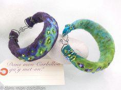 bracelet cordon scapé perlé by Dans mon corbillon..., via Flickr