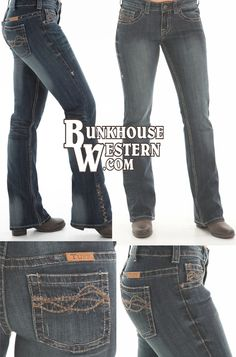 Cowgirl Tuff Company, Triple LLL Jeans, Lisa Lockhart & her horse Louie, Dark Wash Jeans, Barbed Wire Stitched Pockets, Turquoise Studs, Rodeo, Barrel Racing, WPRA, $89.99, http://www.bunkhousewestern.com/LLL_p/lll.htm