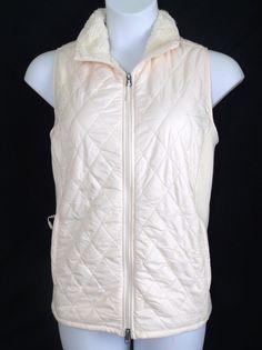 L L Bean Fleece Lined Fitness Vest Handwarmer Pockets Creamy Beige Plus Size 2X | eBay