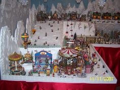 Large Unique Foam Christmas Village Display