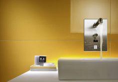 Il #giallo è il #colore perfetto per tutti quegli ambienti che hanno bisogno di un po' di luce come il #bagno. Per gli spazi piccoli si può optare anche per tonalità più forti che accostate al rigore dell'acciaio e mitigato dalla morbidezza del bianco riescono a ricreare un ambiente energico e moderno! Altre idee interessanti da #CeramicheVaccarisi #Showroom ad #Avola in via #Siracusa 88 - Sito web http://ift.tt/2hbGm18 #yellow #energy #white #interiordesign #inspiration #d_signers #living…