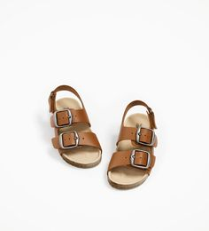 BUCKLED LEATHER SANDALS-SHOES AND BAGS-BABY BOY | 3 months - 4 years-KIDS | ZARA United States