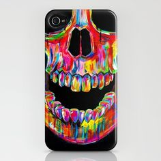Chromatic Skull  by John Filipe  IPHONE CASE / IPHONE (4S, 4)  $35.00