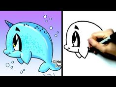 """How to draw a whale"" - ""How to draw cartoon characters"" - ""How to draw cartoons"" - ""How to draw a narwhal"" step by step! SUBSCRIBE for New Fun2draw videos every week! http://www.youtube.com/Fun2draw LIKE Fun2draw on Facebook :) http://www.facebook.com/Fun2draw ""How to Draw Dolphins, Whales and Sharks"" playlist: http://www.youtube.com/playli..."