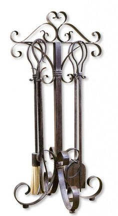 High Pointe Furnishings, Didier Metal Fireplace Tools, Set of 5