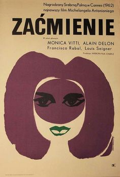 Polish Poster for L'eclisse (Michelangelo Antonioni, 1962)