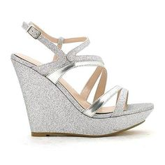 Sparkly Gold Wedge Heels Shoe Pinterest And Wedges