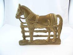 Messing Briefständer Pferd Jugendstil Büro Schreibtisch Hotel Pension Hostel