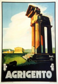 Agrigento by Nizzoli, Marcello Vintage Posters
