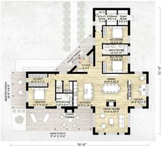 Contemporary Style House Plan - 3 Beds 2.50 Baths 2180 Sq/Ft Plan #924-1 Floor Plan - Main Floor Plan - Houseplans.com