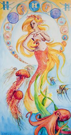 Pisces moon sign. This explains my absolute love for mermaids and sea creatures ;)