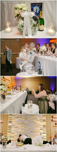 Fun wedding reception kiss games: Guests give bride and groom money if they want…