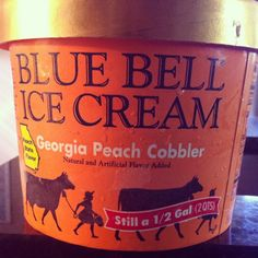 Blue Bell Ice Cream - got to try the Peach Cobbler!!