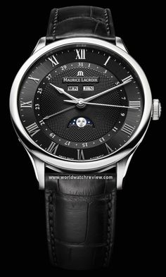 Maurice Lacroix Masterpiece Tradition Men's GMT Automatic Watch by Maurice Lacroix -- Awesome products selected by Anna Churchill Fine Watches, Cool Watches, Watches For Men, Gps Watches, Relojes Maurice Lacroix, Swiss Luxury Watches, Stylish Watches, Patek Philippe, Beautiful Watches