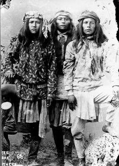 San Carlos Apache boys - circa 1886.